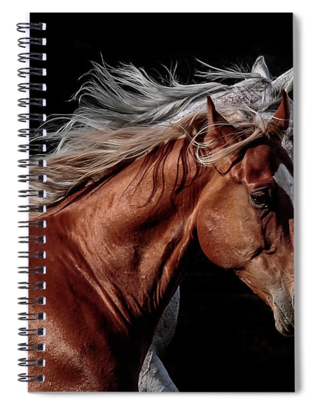 Racing With The Wind Spiral Notebook