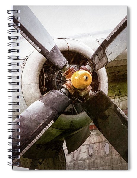 Radial Engine And Prop - Fairchild C-119 Flying Boxcar Spiral Notebook