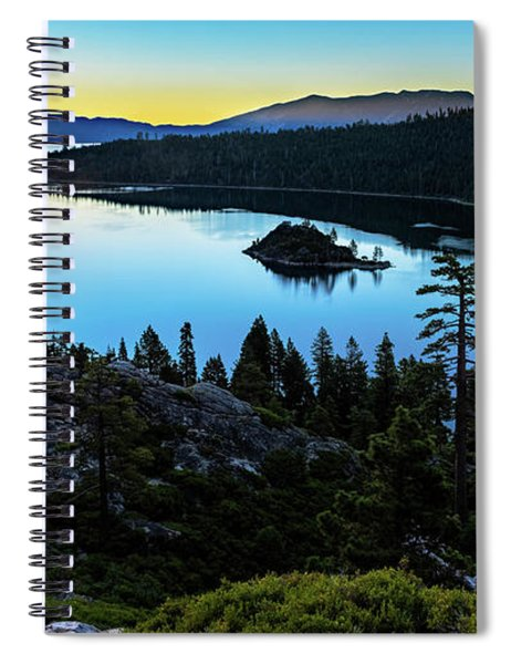 Radiant Sunrise On Emerald Bay Spiral Notebook