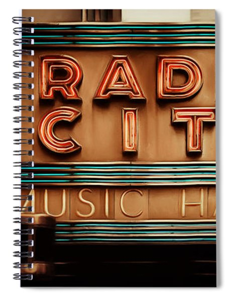 Radio City Music Hall Rockefeller Center Midtown Manhatten New York City Painterly 20170917 Long Spiral Notebook