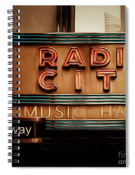 Radio City Music Hall Rockefeller Center Midtown Manhatten New York City Painterly 20170917 Square Spiral Notebook