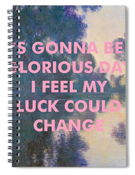 Radiohead Lyrics Art Print Spiral Notebook