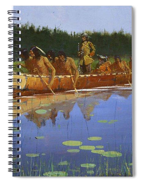 Radisson And Groseilliers Spiral Notebook