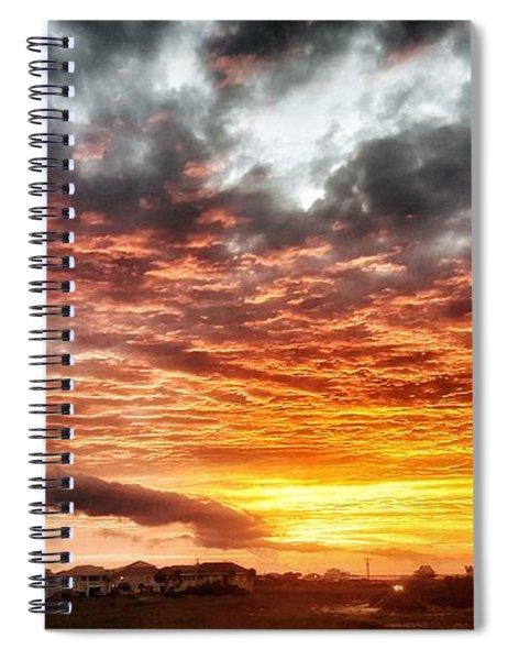 Raging Sunset Spiral Notebook