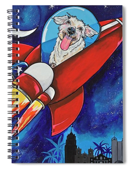 Rags The Rocket Dog Spiral Notebook