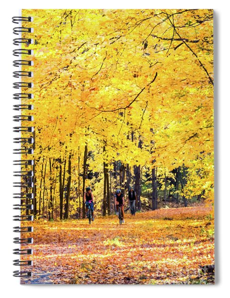 Autumn Glory On The Rail Trail Spiral Notebook