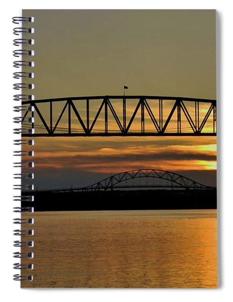 Railroad Bridge Over The Canal Spiral Notebook