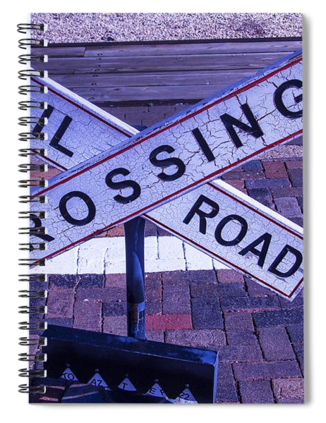 Railroad Crossing Sign  Spiral Notebook