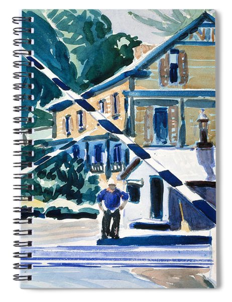 Railroad Crossing, The Berkshires Spiral Notebook