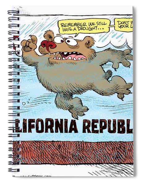 Rain And Drought In California Spiral Notebook