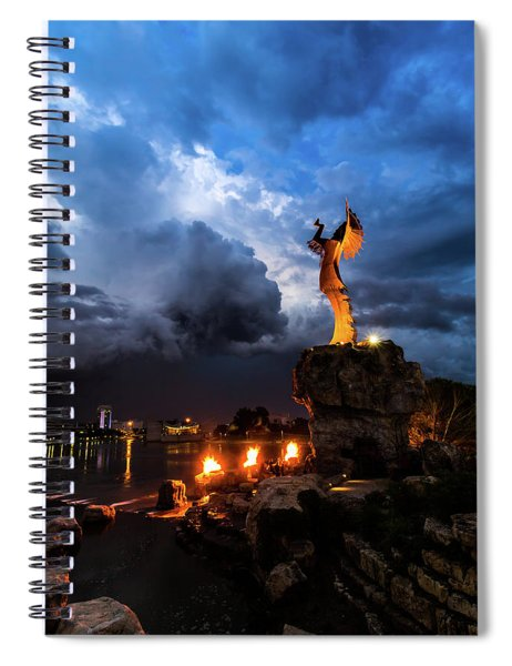 Rain And Fire Keeper Spiral Notebook