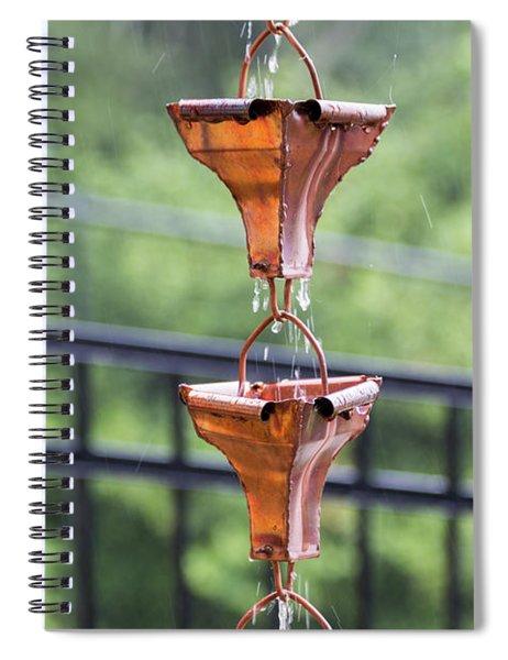 Rain Chains Spiral Notebook