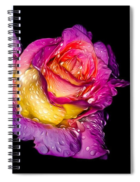Rain-melted Rose Spiral Notebook