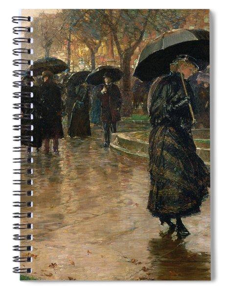 Rain Storm Union Square Spiral Notebook