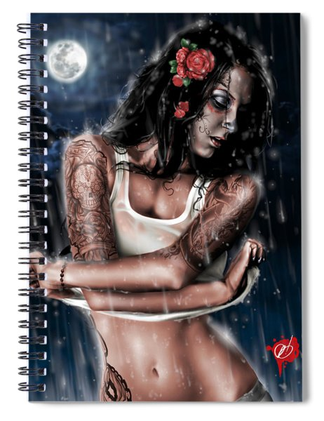 Rain When I Die Spiral Notebook