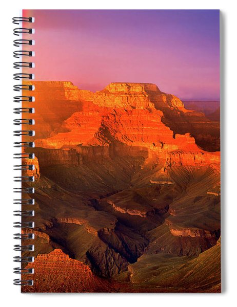 Rainbow At The Grand Canyon Spiral Notebook