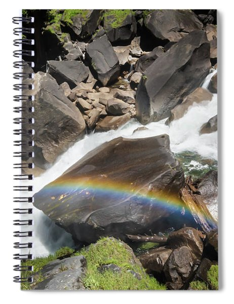 Rainbow At Vernal Falls- Spiral Notebook