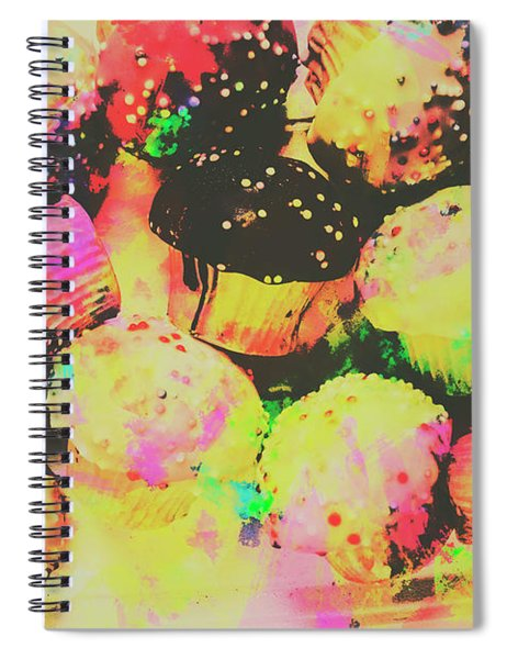 Rainbow Color Cupcakes Spiral Notebook