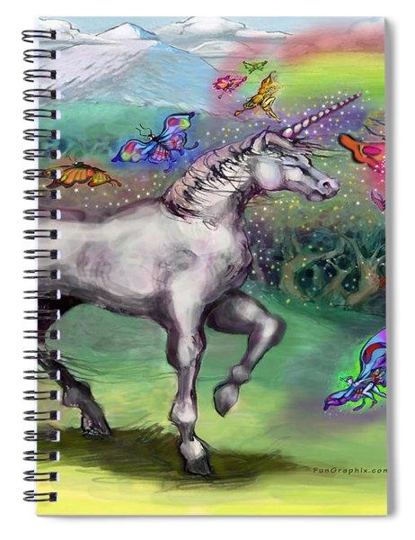 Rainbow Faeries And Unicorn Spiral Notebook