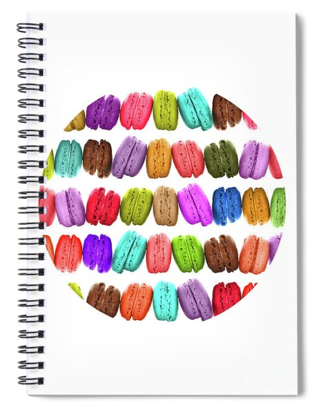 Rainbow French Macarons Spiral Notebook
