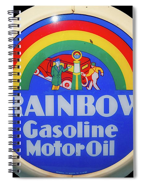 Rainbow Gasoline Spiral Notebook