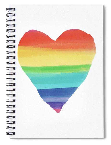 Rainbow Heart- Art By Linda Woods Spiral Notebook