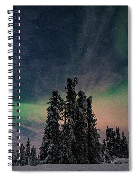 Rainbow In The Night Spiral Notebook