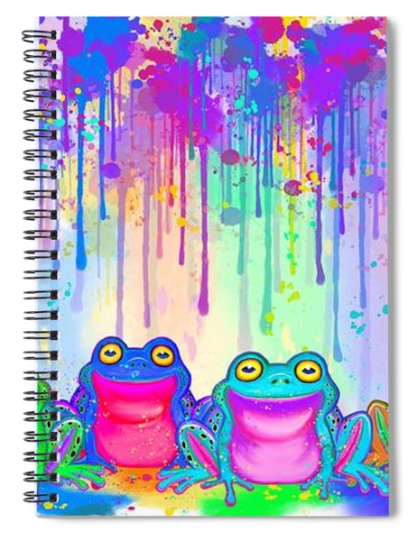 Rainbow Of Painted Frogs Spiral Notebook
