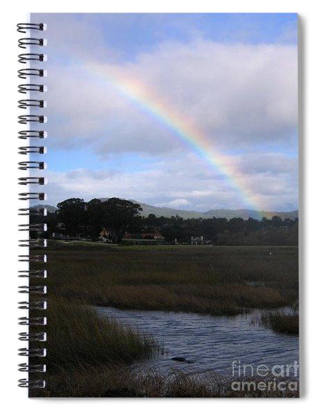 Rainbow Over Carmel Wetlands Spiral Notebook