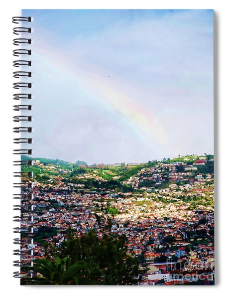 Rainbow Over Funchal Spiral Notebook