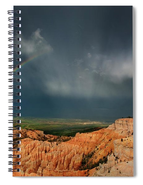 Rainbow Over Hoodoos Bryce Canyon National Park Utah Spiral Notebook by Dave Welling