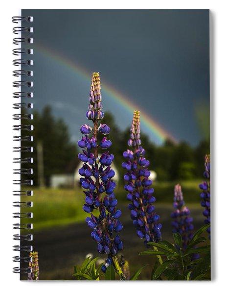 Rainbow Over Lupine  Spiral Notebook