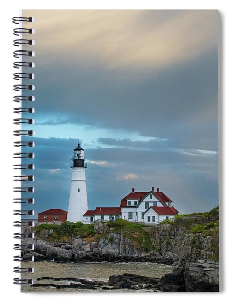 Rainbow Over Portland Head Light Spiral Notebook