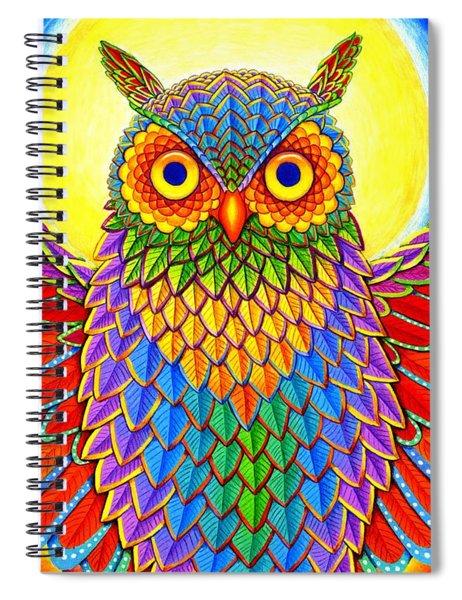 Rainbow Owl Spiral Notebook