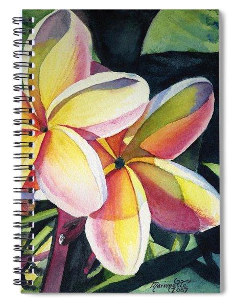 Rainbow Plumeria Spiral Notebook