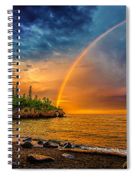 Rainbow Point Spiral Notebook