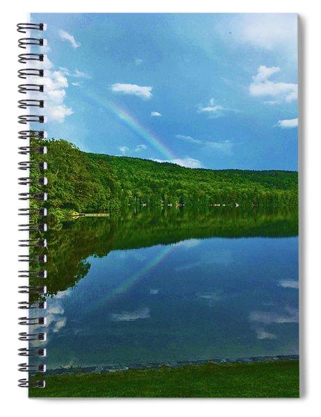 Rainbow Reflection Spiral Notebook