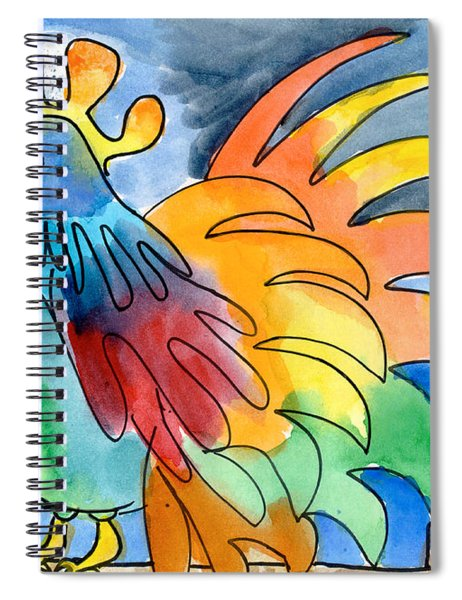Rainbow Rooster Spiral Notebook