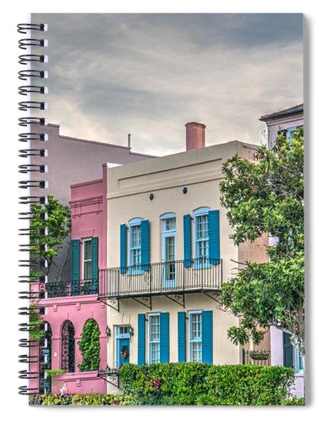 Rainbow Row II Spiral Notebook