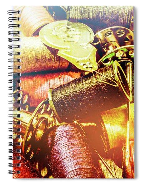 Rainbow Sew Spiral Notebook