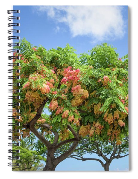 Spiral Notebook featuring the photograph Rainbow Shower Tree 1 by Jim Thompson