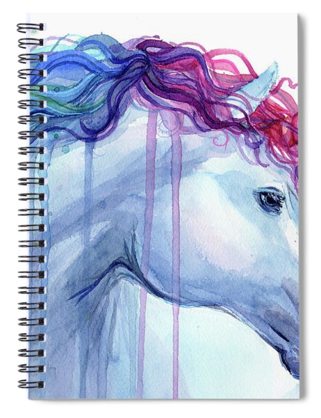 Rainbow Unicorn Watercolor Spiral Notebook