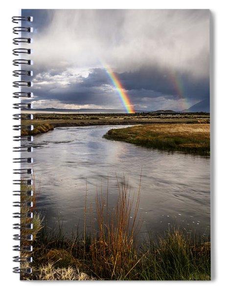 Rainbows At The Upper Owens Spiral Notebook
