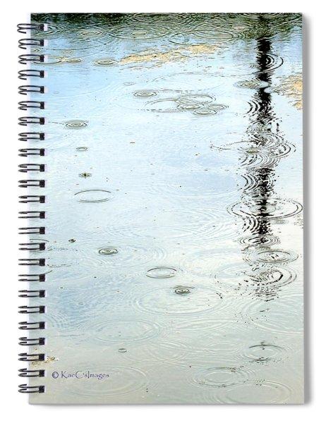 Raindrop Abstract Spiral Notebook