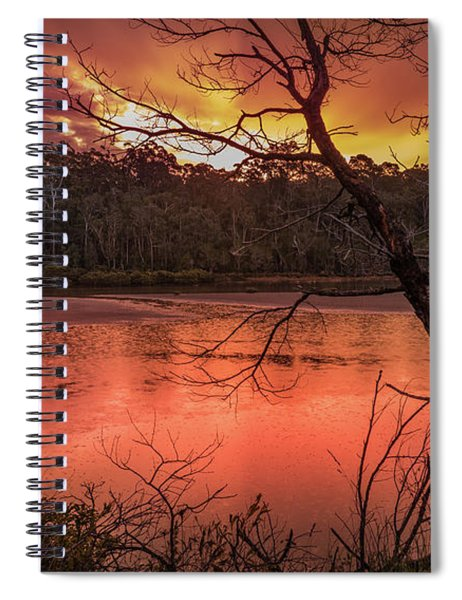 Raindrops On Nullica Spiral Notebook