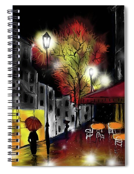Raining And Color Spiral Notebook