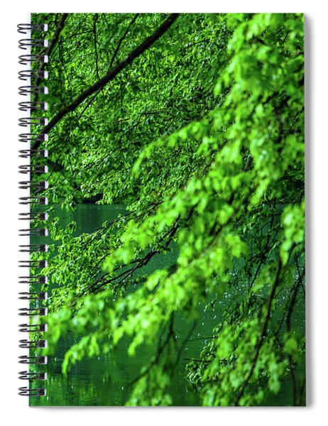 Raining Serenity - Plitvice Lakes National Park, Croatia Spiral Notebook