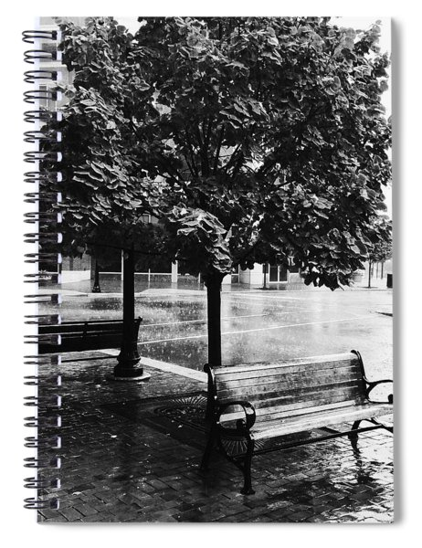 Rainy Day - A Moody Black And White Photograph Spiral Notebook