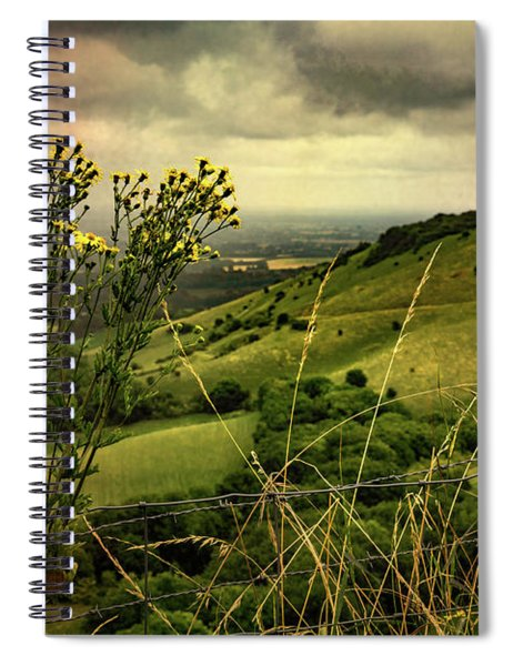 Rainy Day Hilltop View On The South Downs Spiral Notebook
