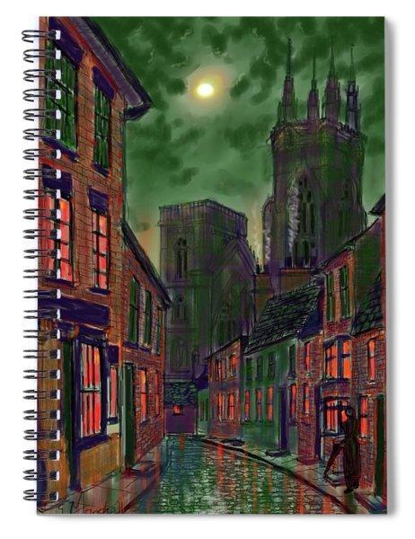 Rainy Night In Kirkgate Spiral Notebook